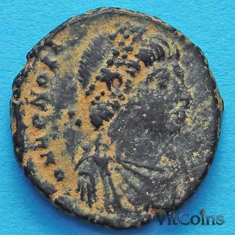 Монета Римская империя, Гонорий, фоллис 395-401 год.№4