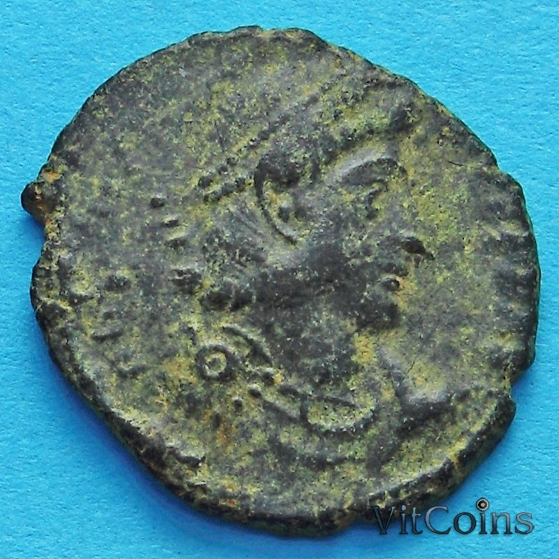 Монета Римская империя, Констанций II, фоллис 337-361 год. №4