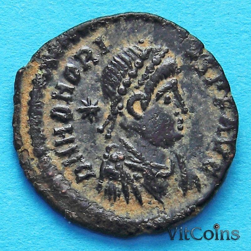Монета Римская империя, Гонорий, фоллис 406-408 год.