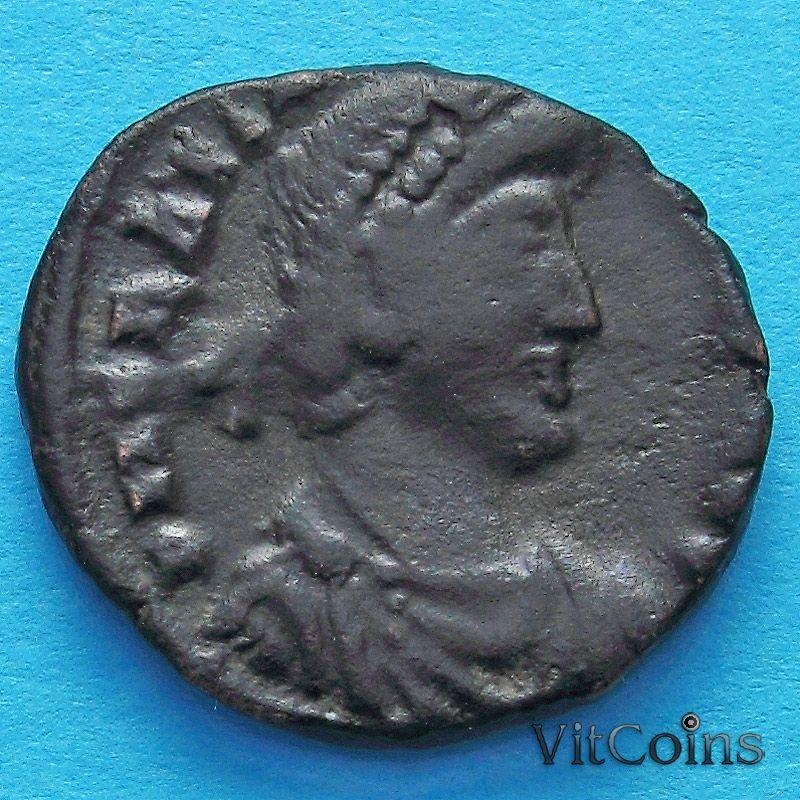 Монета Римская империя, фолис Грациан 378-383 год.