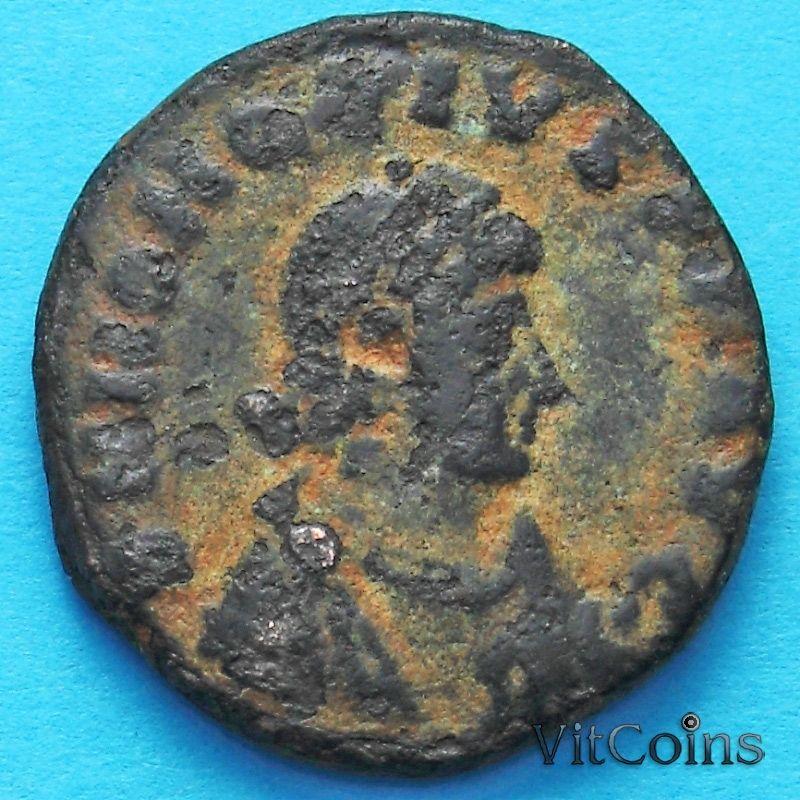 Монета Римская империя, Гонорий, фоллис 395-423 год. АЕ2 №2