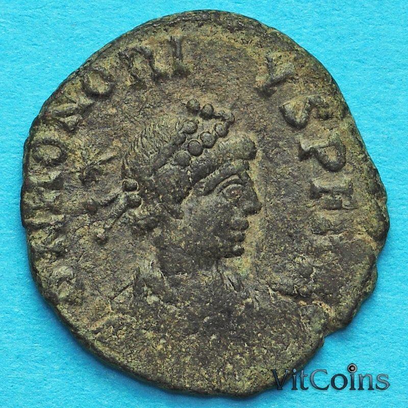 Монета Римская империя, Гонорий, фоллис 408-423 год.