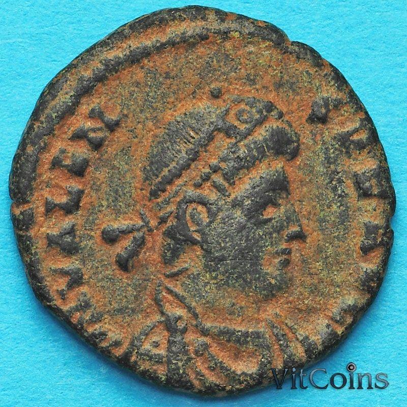 Монета Римская империя, Валент, фоллис 364-378 год. №4