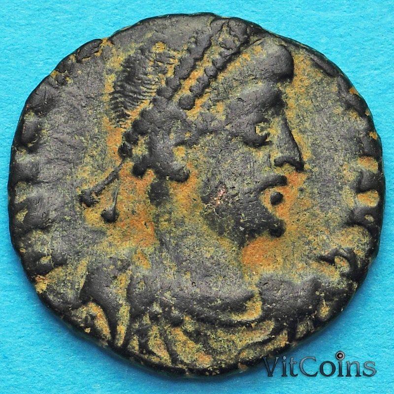 Монета Римская империя, Грациан 367-378 год. Виктория.