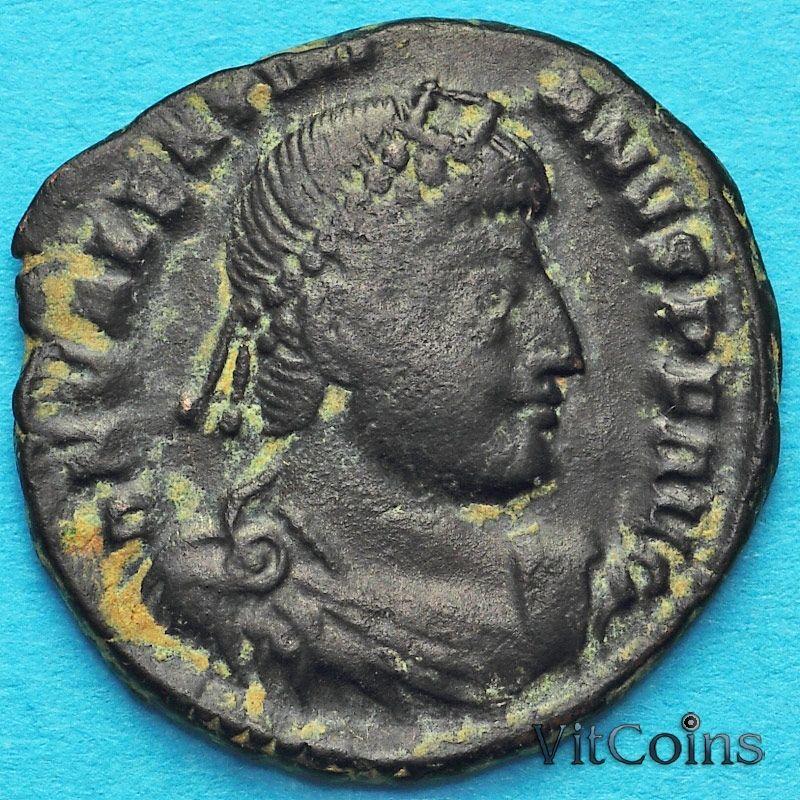 Монета Римская империя, Валентиниан I, фоллис 364-375 год.