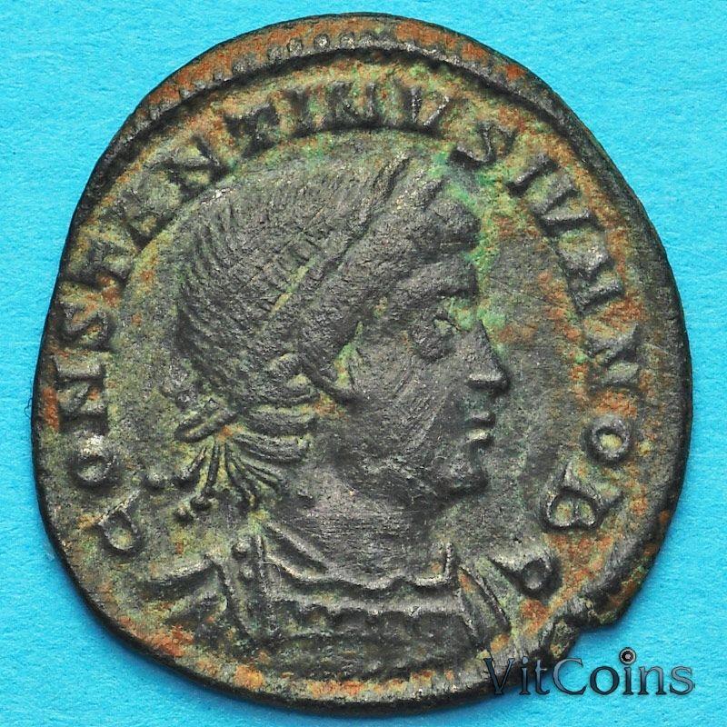 Монета Римская империя, фолис Константин II 330-336 год.