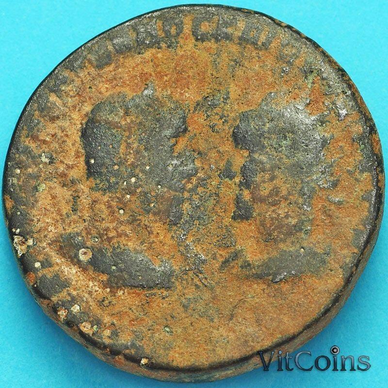 Монета Рим, провинция Вифиния, Марк Аврелий и Луций Вер 161-169 год.