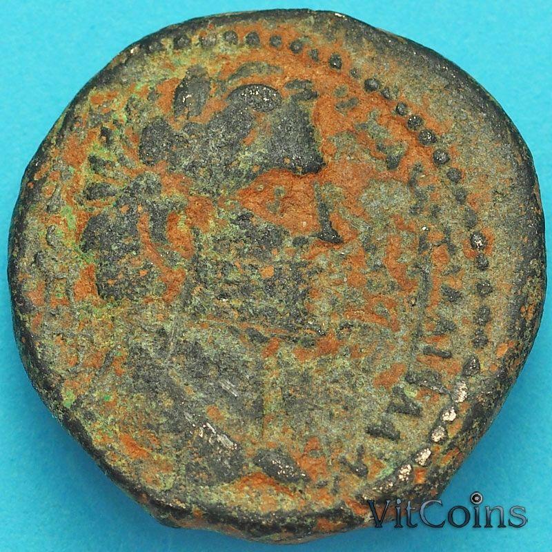 Монета Рим, провинция Сирия, Зевгма, асс, Антоний Пий 138-161 год.