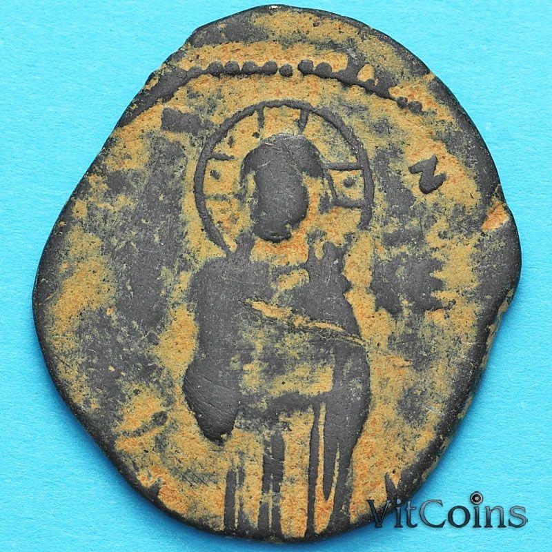 Византия анонимный фоллис, Михаил IV Пафлагон 1034-1041 год. №22