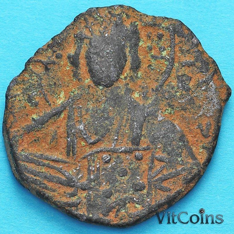 Византия анонимный фоллис, Иисус. Роман III Аргир 1028-1034 год. №16