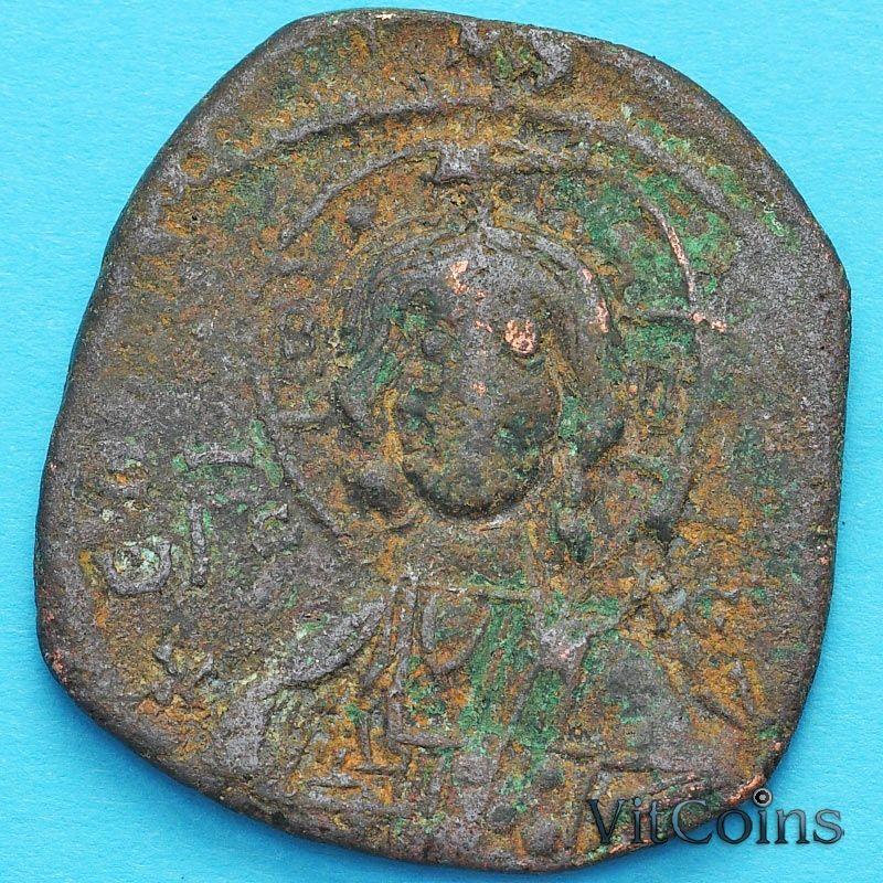 Византия анонимный фоллис, Иисус. Роман III Аргир 1028-1034 год. №17