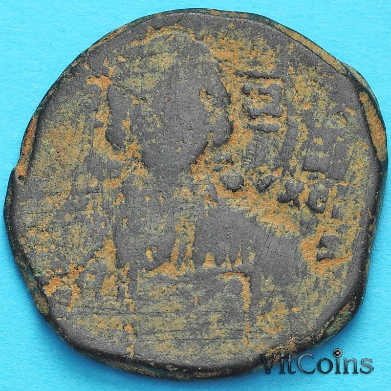 Византия фоллис Василий II 976-1028 год. №10