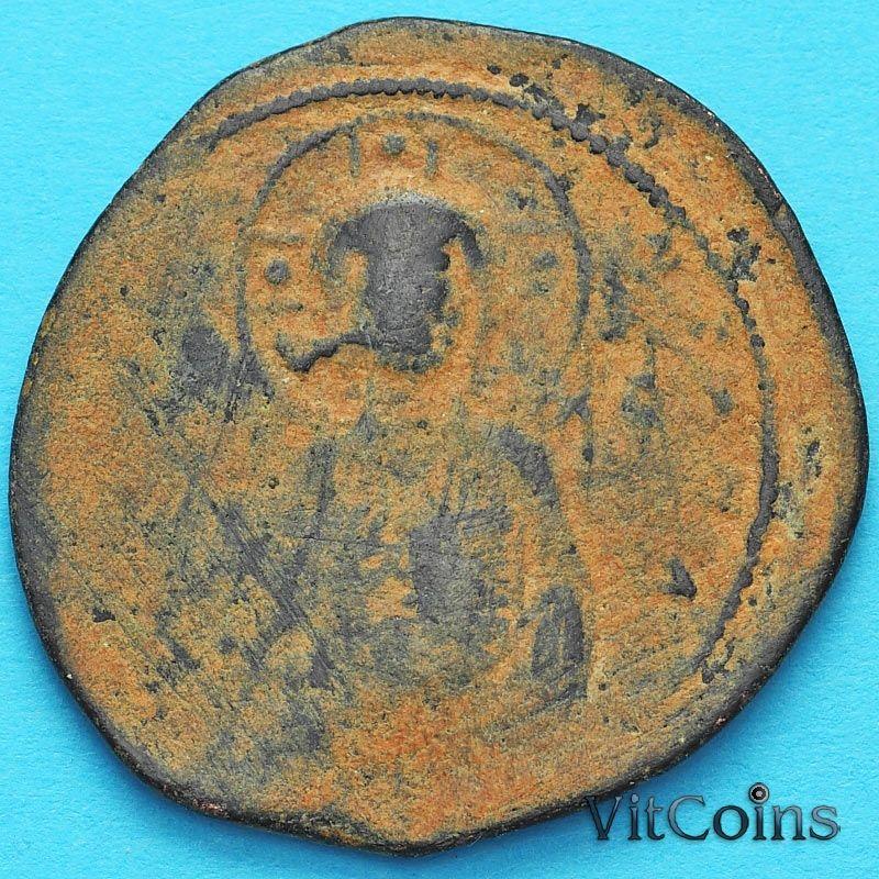 Византия анонимный фоллис, Иисус. Михаил IV Пафлагон 1034-1041 год. №5