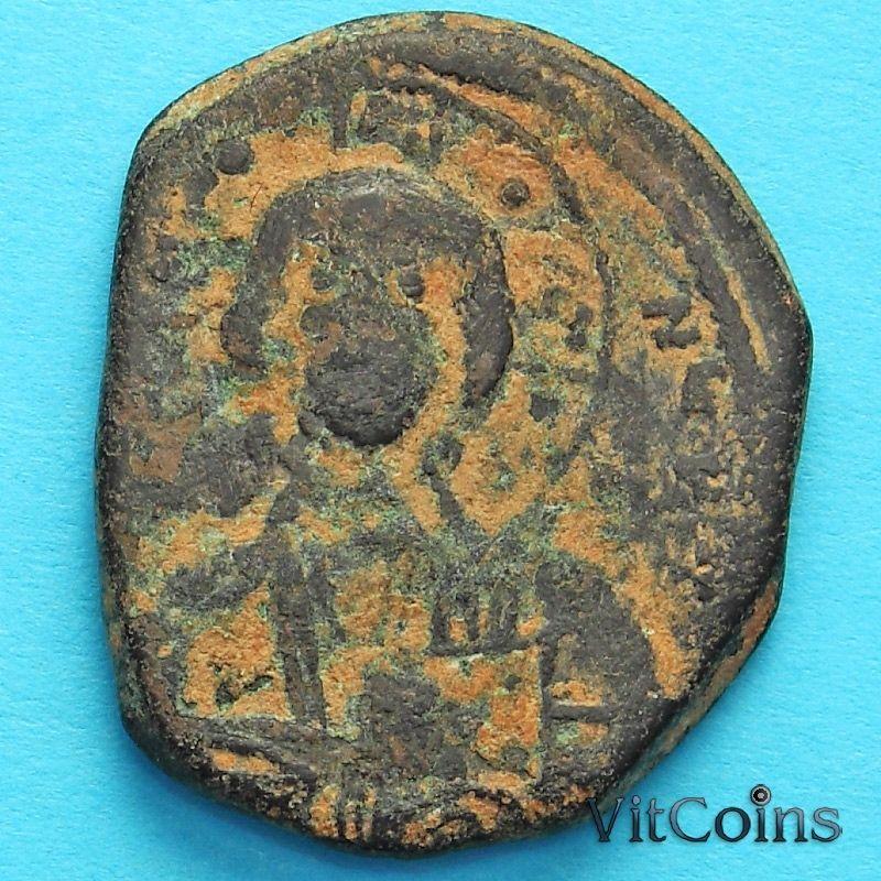 Византия анонимный фоллис, Иисус. Роман III Аргир 1028-1034 год. №5