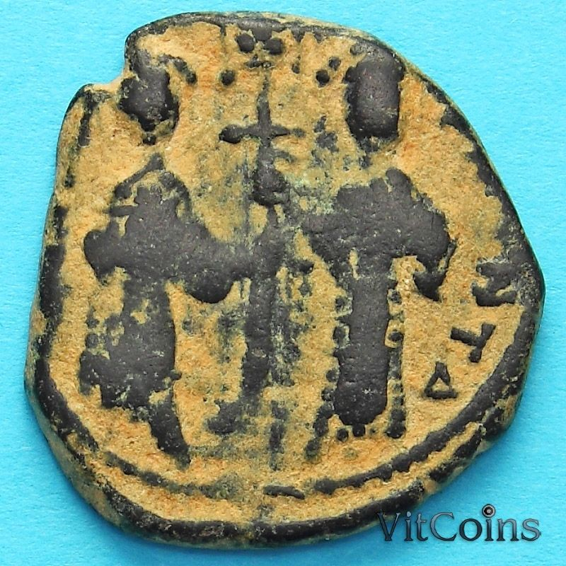 Монета Византия фоллис Константин X Дука 1059-1067 год. №3