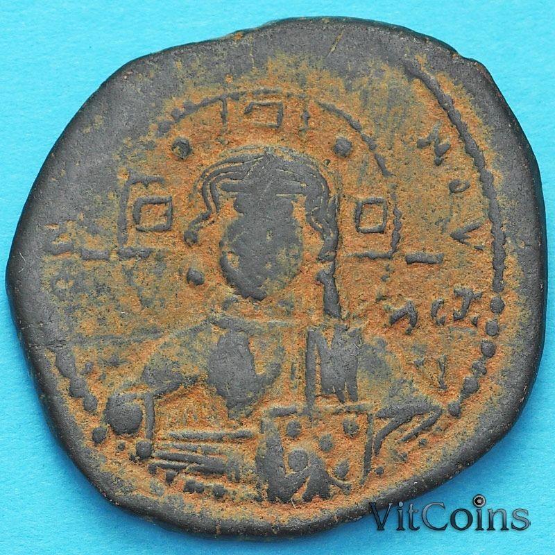 Монета Византия анонимный фоллис, Иисус. Роман III Аргир 1028-1034 год. №13