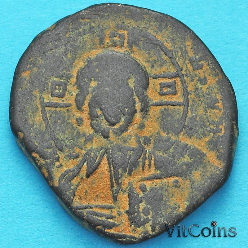 Монета Византия фоллис Василий II 976-1028 год. №8
