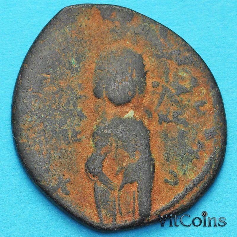 Монета Византия анонимный фоллис, Михаил IV Пафлагон 1034-1041 год. №23