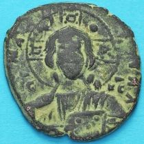 Византия анонимный фолис, Иисус. Роман III Аргир 1028-1034 год. №15