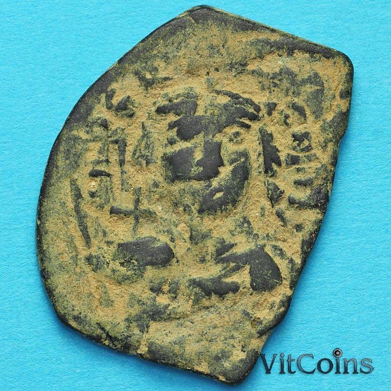 Монета Византия фоллис Констант II 644-645 год. №3