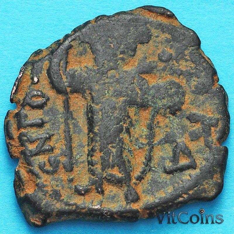 Монета Византия фоллис Констант II 641-641 год.