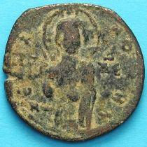Византия анонимный фолис, Исус. Михаил IV Пафлагон 1034-1041 год. №3