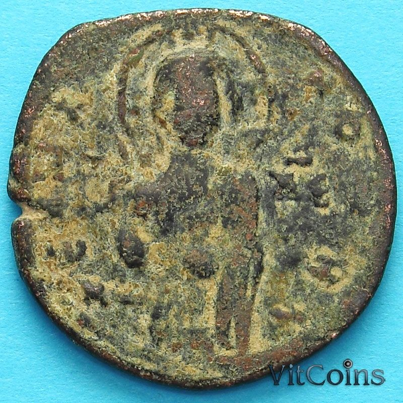 Монета Византия анонимный фоллис, Михаил IV Пафлагон 1034-1041 год. №3