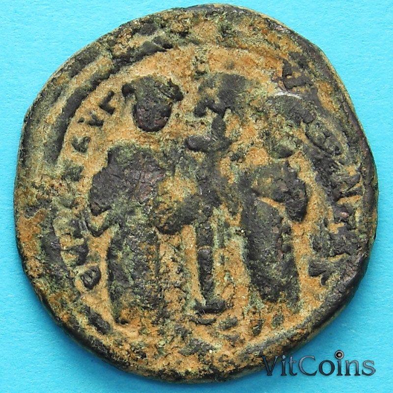 Монета Византия фоллис Константин X Дука 1059-1067 год. №6