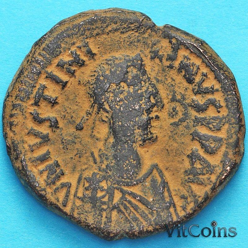 Византия 40 нуммий Юстиниан I 527-532 год. №12