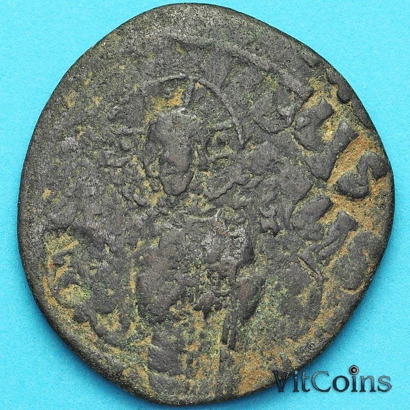 Византия анонимный фолис, Иисус. Михаил IV Пафлагон 1034-1041 год. №3