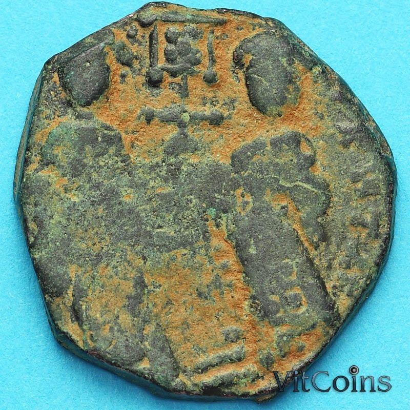 Монета Византия фоллис Константин X Дука 1059-1067 год. №10