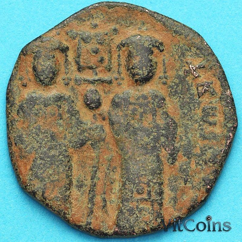 Монета Византия фоллис Константин X Дука 1059-1067 год. №11