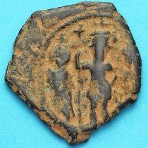 Византия фоллис Ираклий, Ираклий Константин 610-641 год. №13