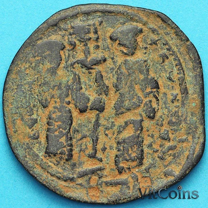 Монета Византия фоллис Константин X Дука 1059-1067 год. №9