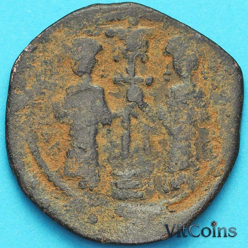 Монета Византия фоллис Константин X Дука 1059-1067 год. №12