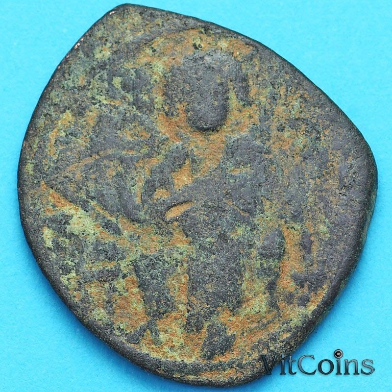 Византия фоллис Василий II 976-1028 год. №14
