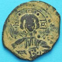 Византия анонимный фолис, Исус. Роман III Аргир 1028-1034 год. №9