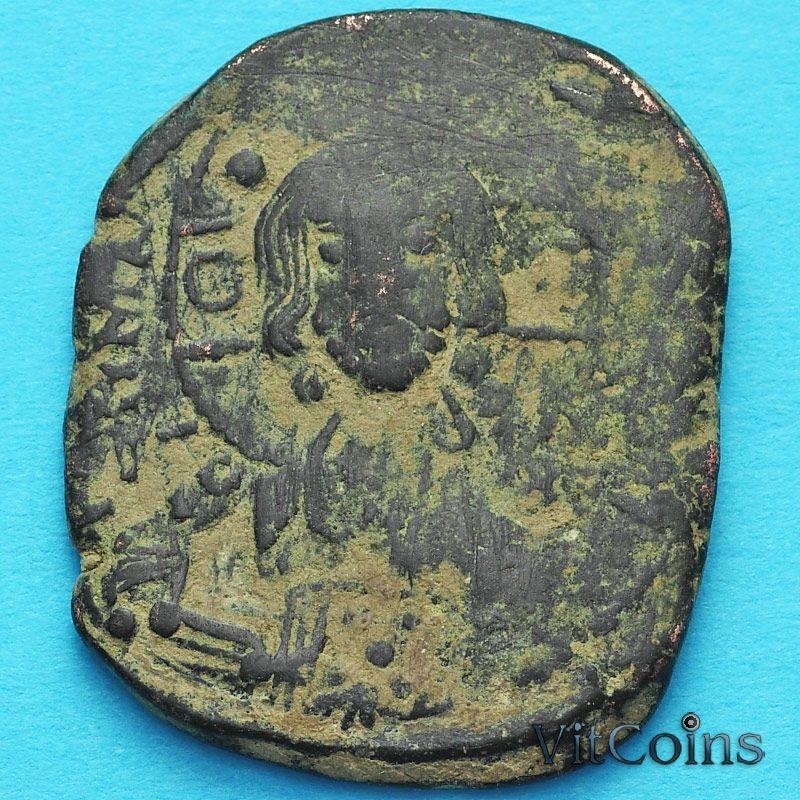 Византия анонимный фоллис, Исус. Роман III Аргир 1028-1034 год. №6