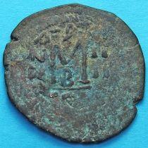 Византия 40 нуммий Ираклий и Ираклий Константин 610-641 год. Перечекан.