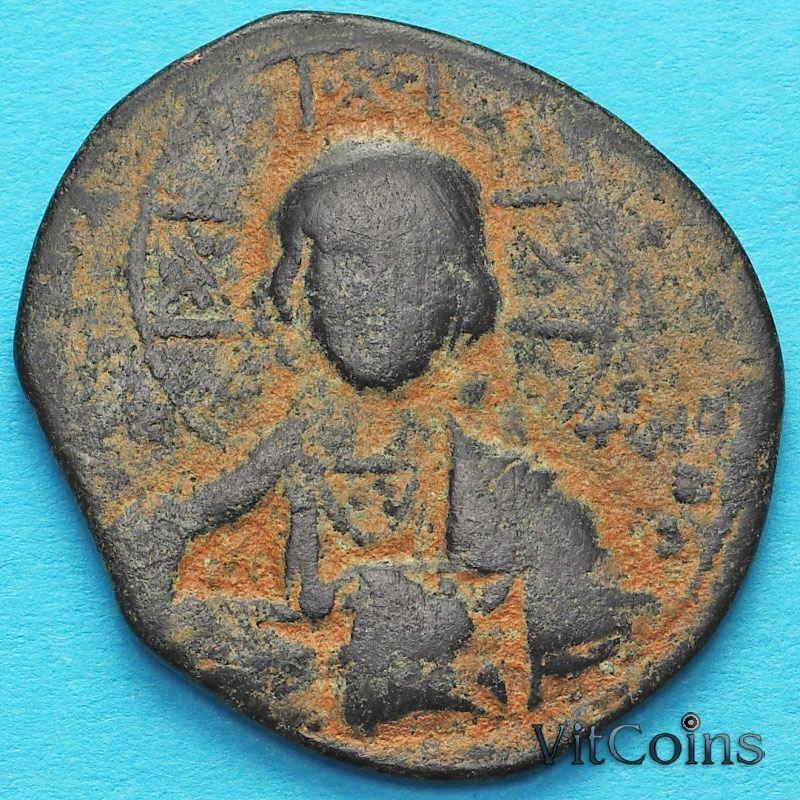 Византия фоллис Василий II  976-1028 год.