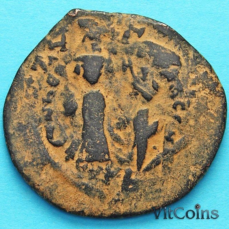 Византия 40 нуммий Ираклий и Ираклий Константин 610-641 год. Перечекан  №2