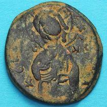 Византия анонимный фоллис, Исус. Михаил IV Пафлагон 1034-1041 год.