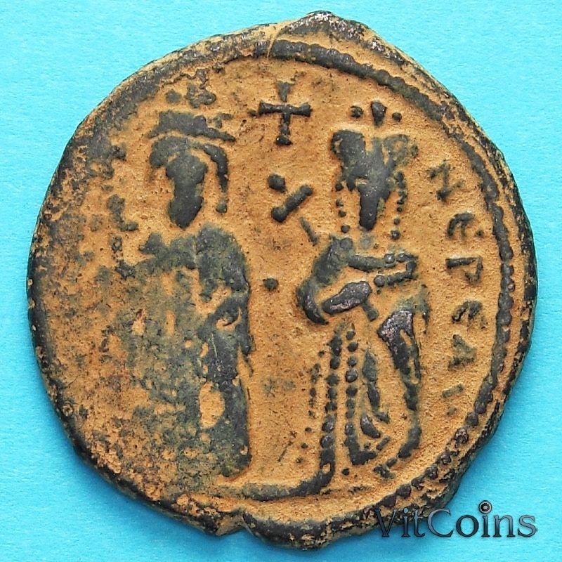 Византия 40 нуммий Фока 603-610 год. Фока и Леонтия.