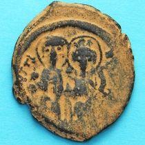 Византия фоллис Юстин II 565-578 год. Юстин и София. №2