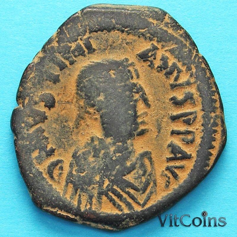 Византия монета 40 нуммий Юстиниан I 527-532  год. №6