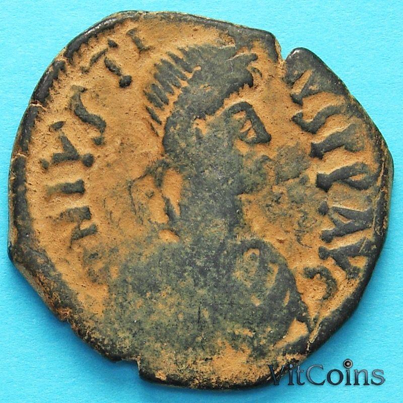 Монета Византия 40 нуммий Юстин 518-527 год. №12