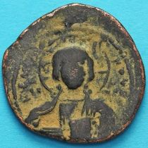 Византия анонимный фоллис, Иисус. Роман III Аргир 1028-1034 год. №3