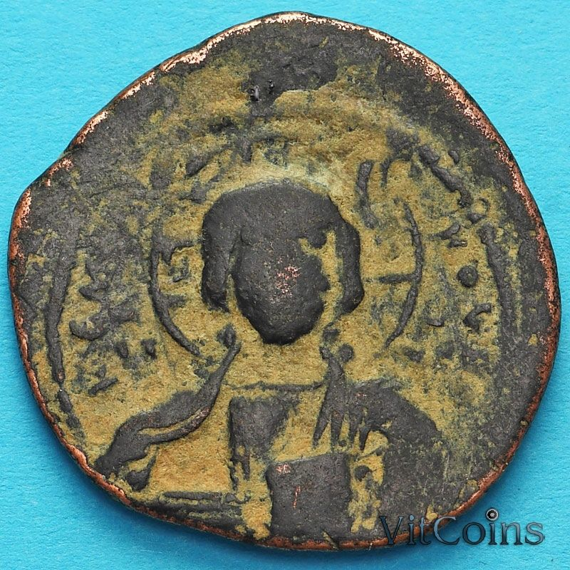 Византия анонимный фолис, Иисус. Роман III Аргир 1028-1034 год. №3