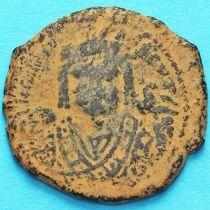 Византия 40 нуммий Маврикий Тиберий 592 год.