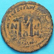 Византия фоллис Ираклий и Ираклий Константин 610-641 год. Перечекан по фоллису Маврикия.